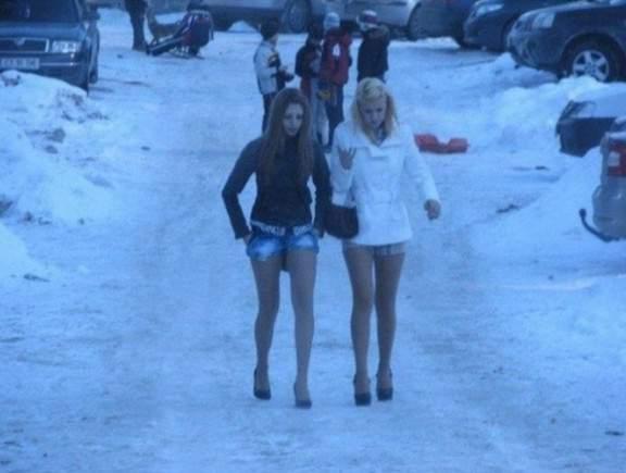 Секс улица зима