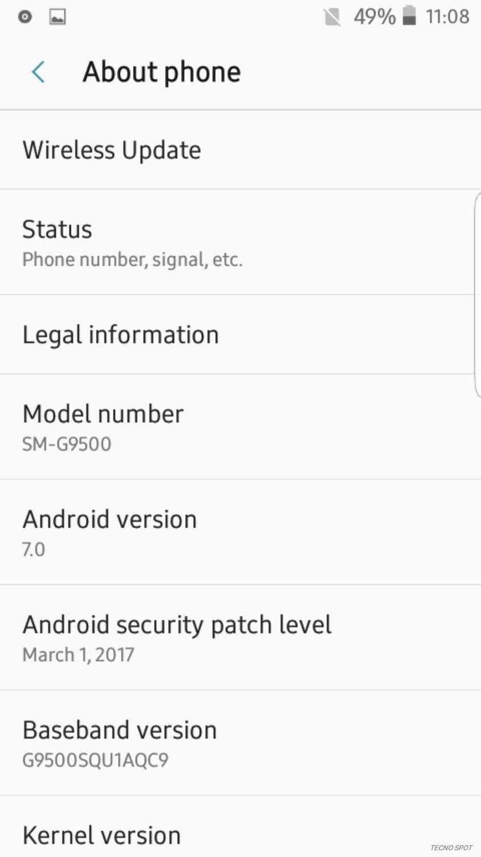Samsung galaxy s8 ROM for Tecno W2 ported by me Joe-N or