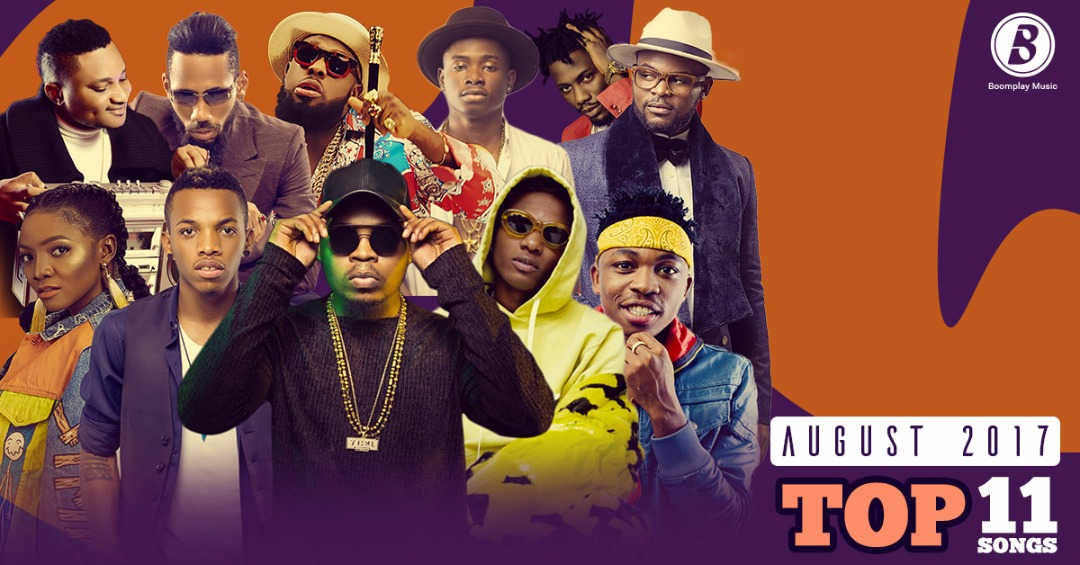 BoomChart (August 2017) : Olamide takes the lead, Tekno, Starboy