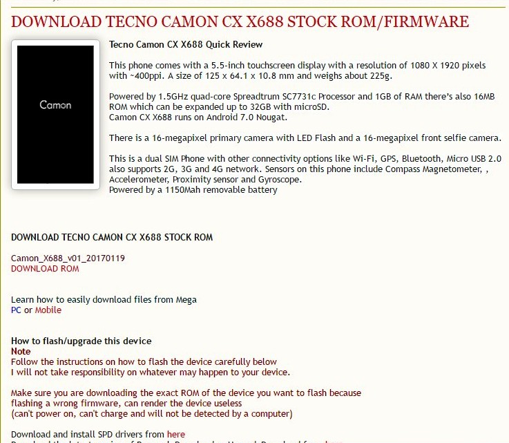 TECNO CAMON CX X688 - TECNO MOBILE COMMUNITY OFFICIAL FORUM