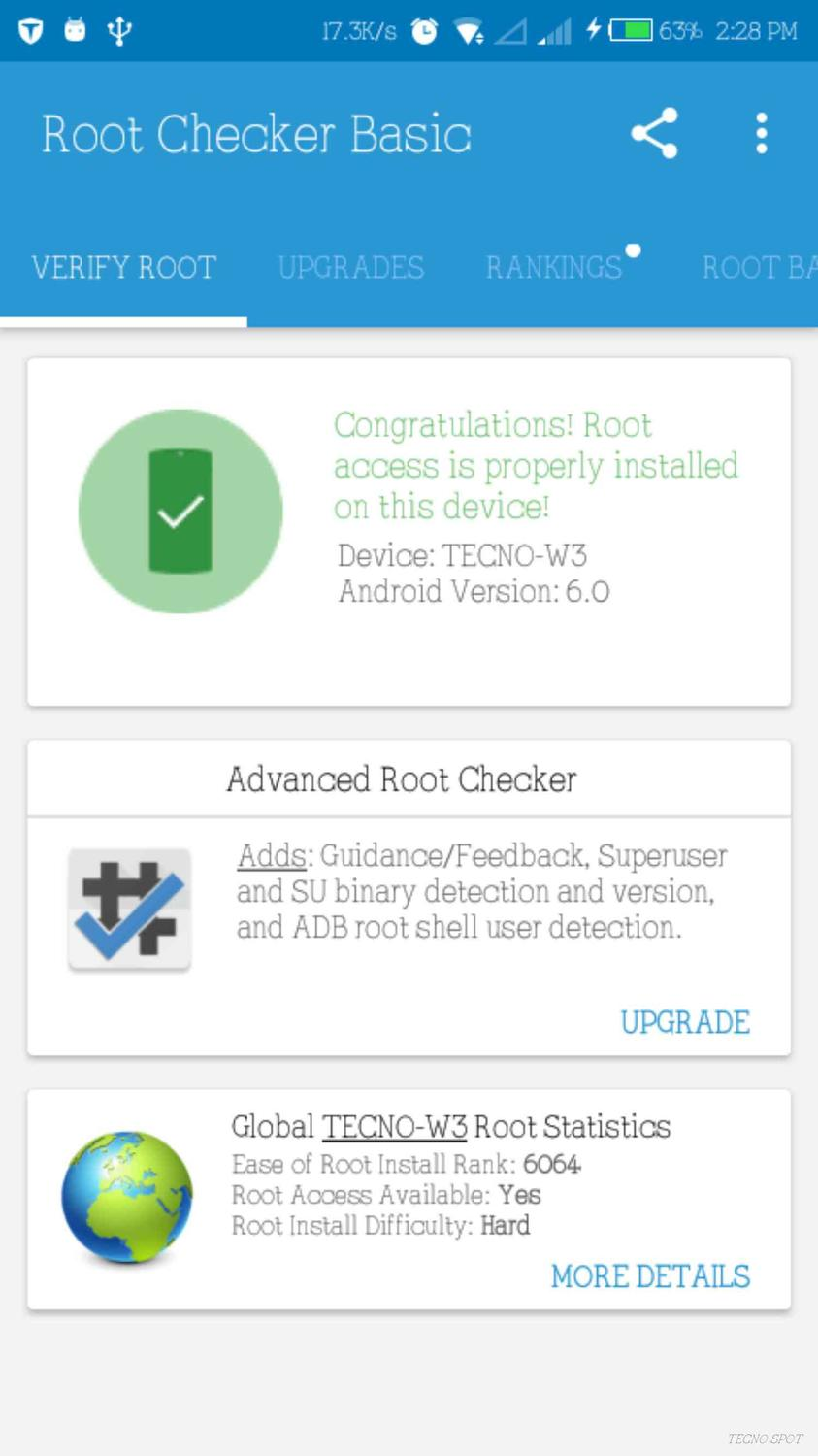 Just rooted my Tecno w3 successfully - TECNO MOBILE COMMUNITY