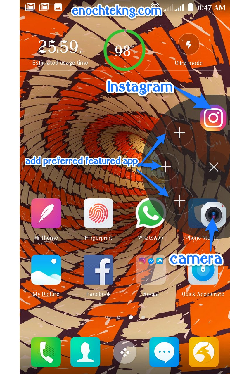 Utilising The T-Point Application Feature On TECNO Spark K7