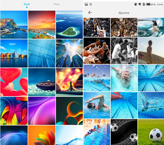Hi Wallpapers, Wallpaper switch, Colourful interface