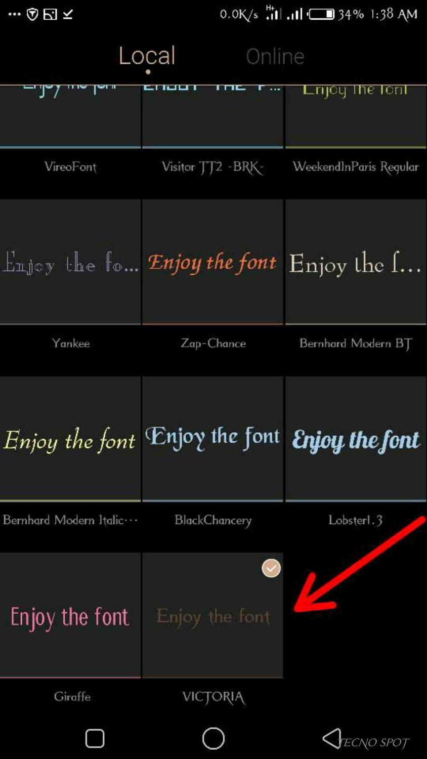 How To Install Custom Fonts On Your Tecno Device Without Root