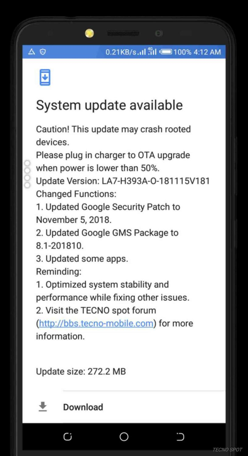 New update - TECNO MOBILE COMMUNITY OFFICIAL FORUM